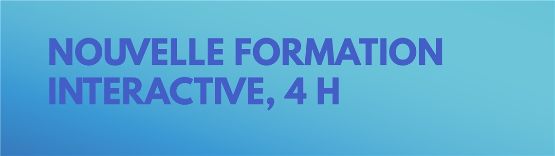 Formation interactive - 8 h à 12 h 30